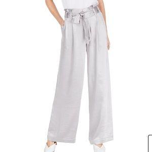 INC silver paper bag pants NWT